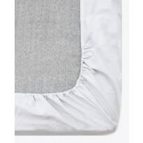 Muotoiltu aluslakana Vallila Pilvi, 160x200+25cm, vaaleanharmaa