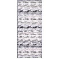 Käytävämatto Nara 80x200 cm valkoinen/harmaa
