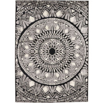 Matto Mosaiikki 160x230 cm musta