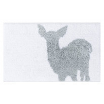 Kylpymatto Vallila Bambino 80x50cm, valkoinen/harmaa