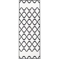 Käytävämatto Vallila, Keitele, 80x230cm, mustavalkoinen