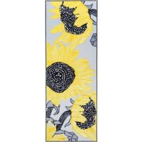 Käytävämatto Vallila, Auringonkukat, 80x250cm, keltainen