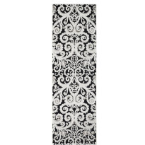 Käytävämatto Vallila, Vihkivala, 68x220cm, musta