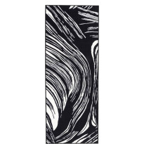 Käytävämatto Vallila, Kaisla, 80x230cm, mustavalkoinen