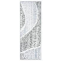 Käytävämatto Vallila Sade 230x80cm, mustavalkoinen