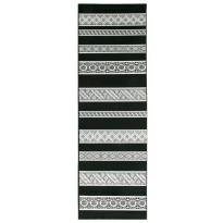 Käytävämatto Vallila Aamuvirkku 220x68cm, musta