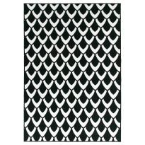 Käytävämatto Vallila Suomu 230x80cm, mustavalkoinen