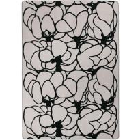 Matto Vallila Makeba print, 160x230cm, savi/musta