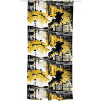 Sivuverho Aurajoki 140x250 cm keltainen