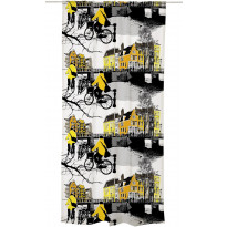 Sivuverho Amsterdam 140x250 cm keltainen