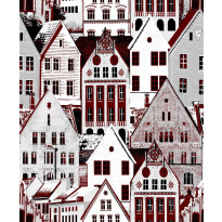 Tapetti Bergen 5220-1 0,53x11,2 m punainen