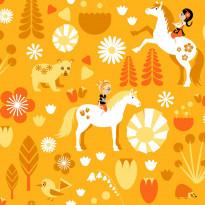 Tapetti Kevätlaulu 5224-2 0,53x11,2 m oranssi