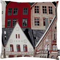 Tyynynpäällinen Bergen 43x43 cm punainen/harmaa