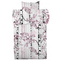Pussilakanasetti Vallila Luontopolku 150x210cm, roosa