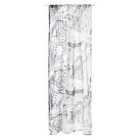 Sivuverho Vallila Soutelo Linen, 140x250cm, mustavalkoinen