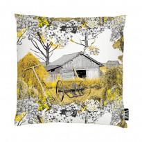 Tyynynpäällinen Vallila Heinänkorjuu 43x43cm, keltainen