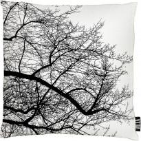Tyynynpäällinen Vallila Saarni, 43x43cm, mustavalkoinen