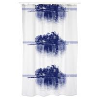 Suihkuverho Vallila Merellä, 180x200cm, sininen