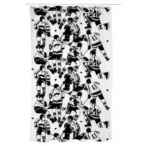 Suihkuverho Ysiviis 180x200 cm black/white