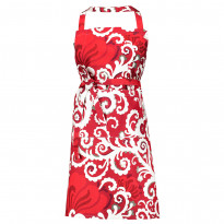 Esiliina Vallila Naimakauppa, 84x82cm, punainen