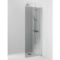 Suihkuseinä Vihtan Ocean 3 500x2015mm, kääntyvä suora, harmaa lasi