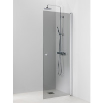 Suihkuseinä Vihtan Pisara 3, 800x2015mm, kääntyvä suora harmaa lasi