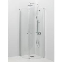 Suihkukulma Vihtan Pisara 4+4, 800/900mm, kääntyvä, kaareva kirkas lasi