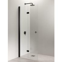 Taittuva suihkuseinä Vihtan Puro 5, kirkas lasi, alumiini/musta, eri vaihtoehtoja