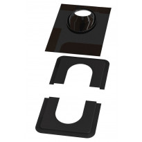 Piippu-aluskatteen tiiviste Vilpe no. 2, musta