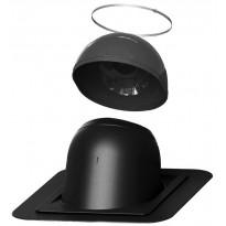 Piippu-läpivienti Vilpe no. 2, pyöreä, musta, Verkkokaupan poistotuote