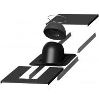 Piippu-läpivientisarja Vilpe no. 1, pyöreä, musta