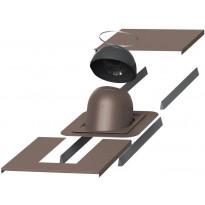 Piippu-läpivientisarja Vilpe no. 1, pyöreä, ruskea, Verkkokaupan poistotuote