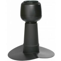 Alipainetuuletin Vilpe huopakatolle, harja 14°, Ø110mm, musta