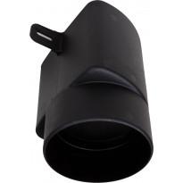 Tuuletuspaalun adapteri Vilpe Ross 125/110, musta