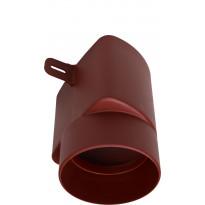 Tuuletuspaalun adapteri Vilpe Ross 125/110, punainen