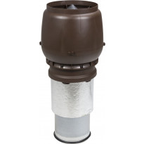 Poistoputki Vilpe XL 250/450/H, eristetty, ruskea, Verkkokaupan poistotuote