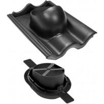 Tiili-läpivienti 2K VILPE musta, Verkkokaupan poistotuote