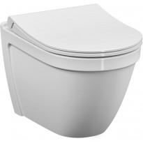 WC-istuin Vitra S50 Slim, Rim-Ex, seinämalli, Duraplast Soft Close-kannella