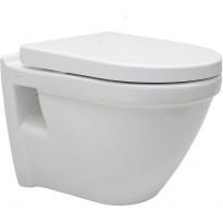 WC-istuin Vitra S50, seinämalli, Rim-Ex, valkoinen, Soft Close-kannella