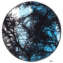 Keskilattiamatto Kelohonka, 133x133cm, aqua