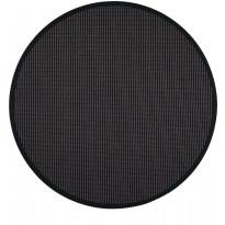 Matto VM Carpet Lyyra, mittatilaus, pyöreä, musta