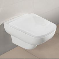 Seinä-WC-istuin + istuinkansi Villeroy & Boch Joyce, avoin huuhtelukaulus, valkoinen, Verkkokaupan poistotuote