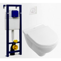 Seinä-WC -paketti Villeroy & Boch O.Novo DirectFlush Soft Close -kannella