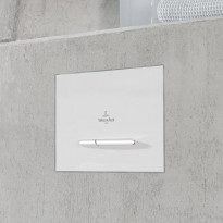 Huuhtelupainike Villeroy & Boch ViConnect, E300, matta valkoinen/matta kromi