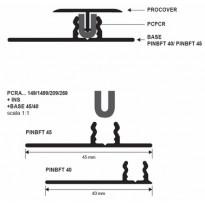 Kiinnitysinsertti t-listalle Progress Profiles Procover, 2,7m, kumi