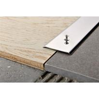 Peitelista Progress Profiles Proplate, 2,7m, 30mm, 3mm, ruuvikiinnitys, kiiltävä rst