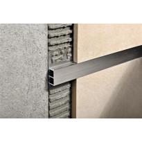 Boordi Progress Profiles Profinlist, 2,7m, 20x10mm, harjattu alumiini