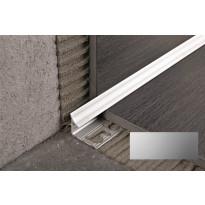 Sisäkulmalista Progress Profiles Prointer, 2,7m, 8mm, anodisoitu hopea