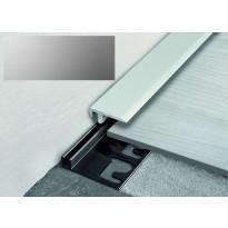 Päätelista ja pohjalista Progress Profiles LVT Terminal Pin, 2,7m, 19mm, 4-6mm, anodisoitu hopea