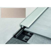 Päätelista ja pohjalista Progress Profiles LVT Terminal Pin, 2,7m, 19mm, 4-6mm, titaani